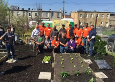 Garden Planting Day with Home Depot