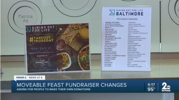 "Moveable Feast's ""Dining Out for Life"" fundraiser goes virtual with special livestream events"